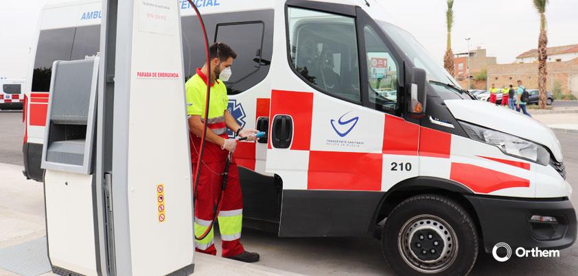 Orthem refuerza el transporte sanitario de la Región de Murcia con ambulancias ecológicas y de alta eficiencia energética