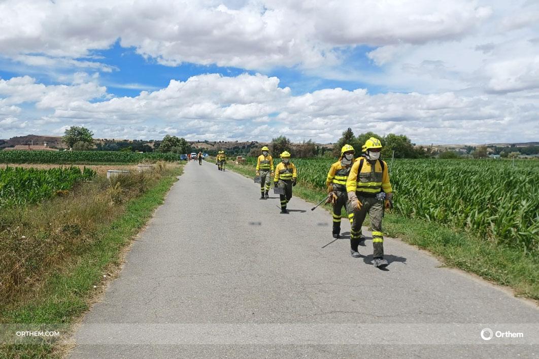 Las brigadas de prevención y extinción de incendios de Orthem protegen por tierra y aire los montes de Castilla y León