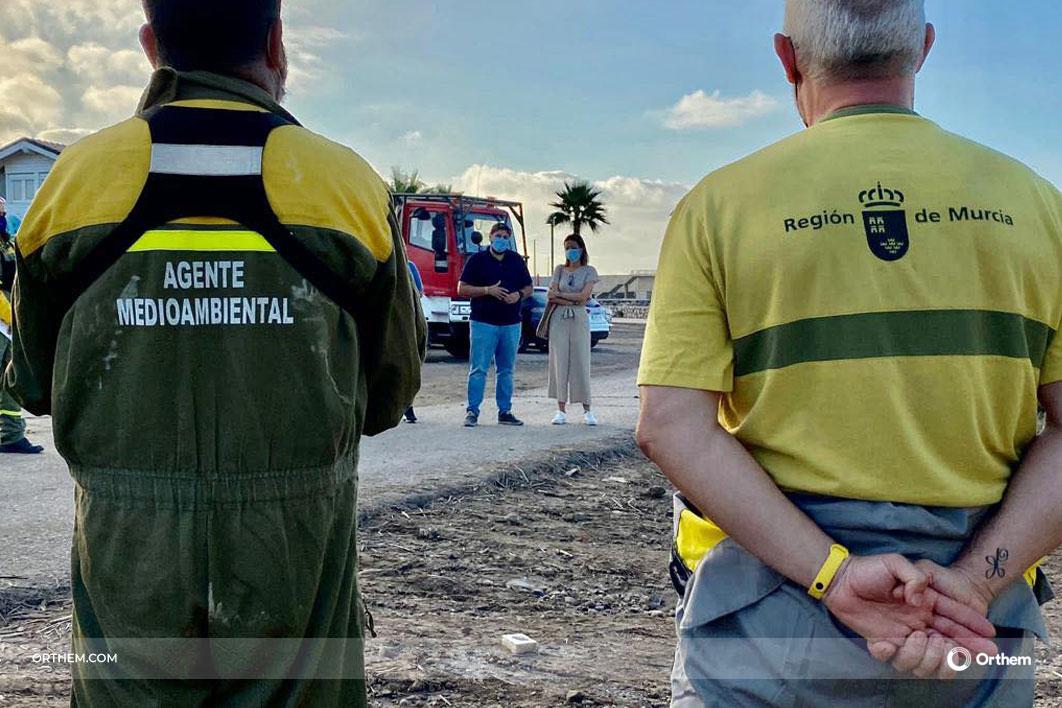 Las brigadas de Orthem - UDIF combaten la DANA en Águilas y colaboran en la extinción del incendio de Sierra Bermeja